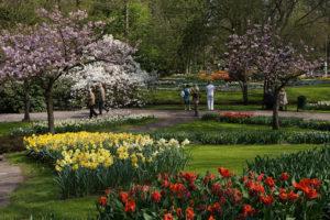 um dos muitos jardins do Keukenhof