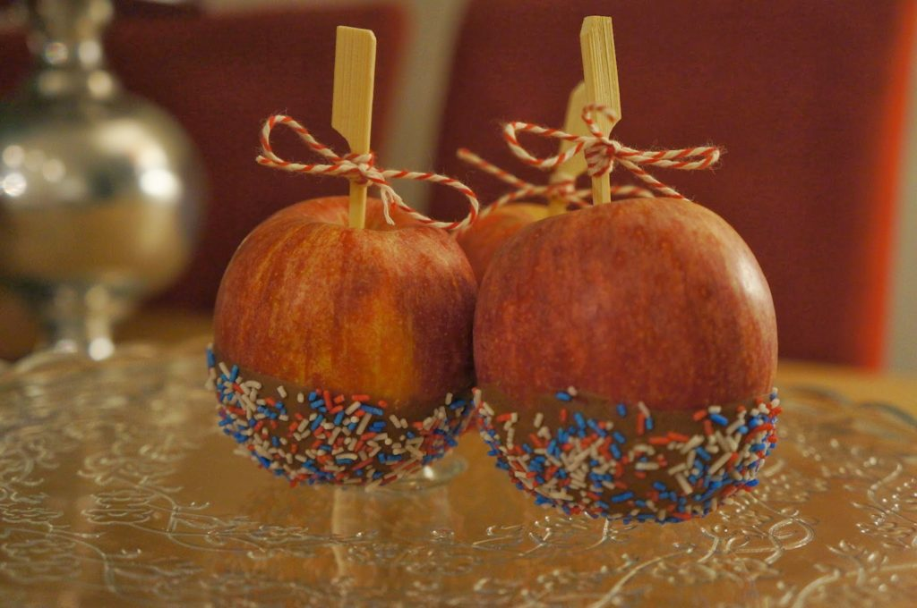 maçã do amor confeitada