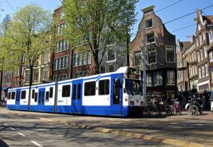 Transporte publico em Amsterdam