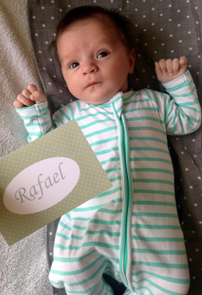 Rafael e seu geboortekaart