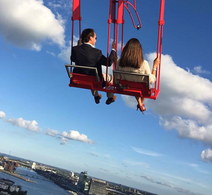 Balanço Lookout, o mais alto da Europa