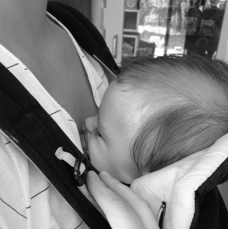Primeiro dia do Rafael na creche