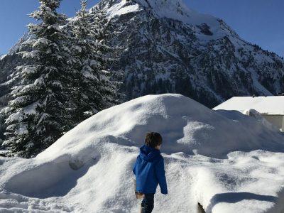 Esquiando com as crianças na Áustria