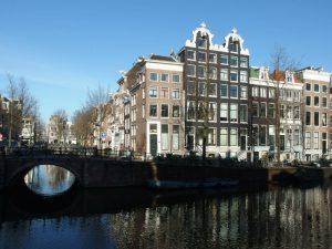 casas do centro de Amsterdam