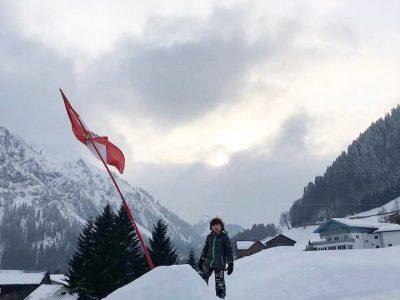 Férias na neve: esquiando com crianças na Áustria