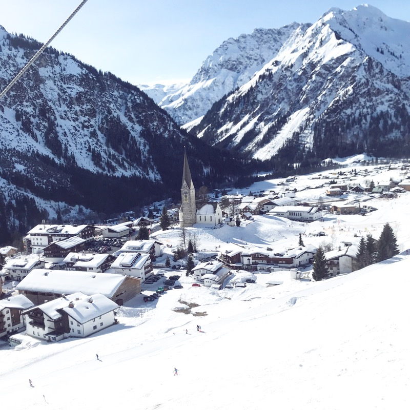 estação de esqui na Austria