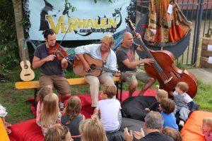 Musica para os pequenos durante o festival