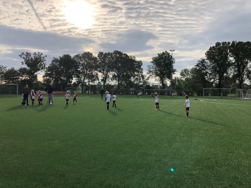 time de futebol em ação