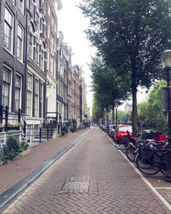 Típicas casas em Amsterdam