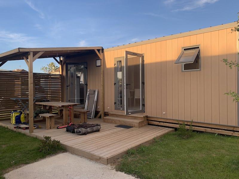 Nossa casinha, tipo motorhome, no camping na Normandia